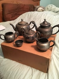 two black-and-gray ceramic teapots Portland, 97220