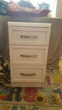 white wooden 3-drawer chest Rochdale, OL16 3AH