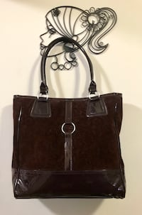 Brown floral leather shoulder bag Sunnyvale, 94089