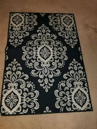 black and white floral area rug Little Rock, 72212