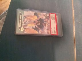 Authentic Tom Brady rookie card..NM+ condition
