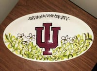Hand Painted University of Indiana Plate Winchester, 37398