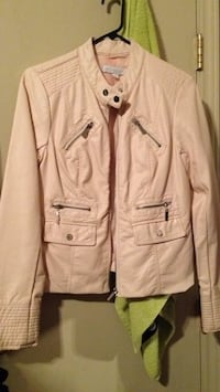 New York and company size medium women's blush pink silver zippers jacket Brownsville, 78521