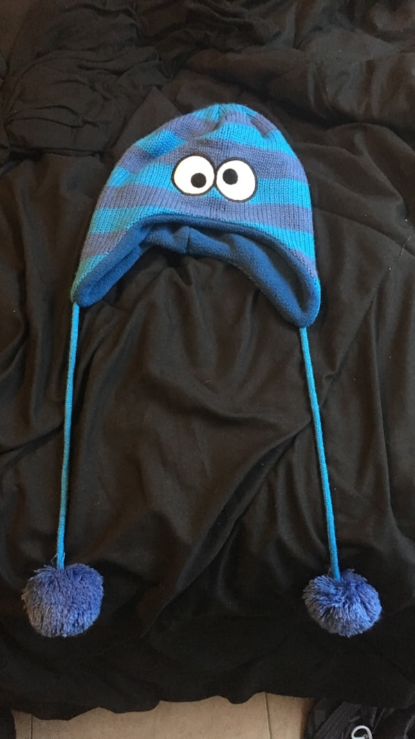 Used Blue cookie monster beanie for sale in Brandon - letgo cf811a4ebd8