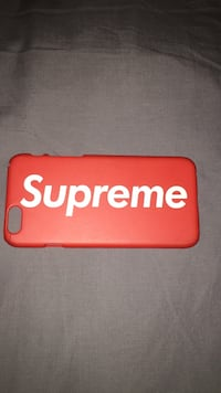 Red supreme iphone case