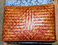 Woven zippered pouch made in Philippines Athens, 30601
