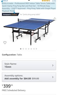 Ping Pong Table Tennis Table Professional Size