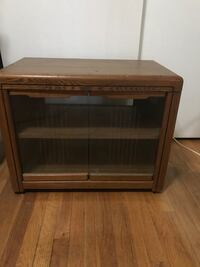 Brown wooden framed glass cabinet Highland, 46322