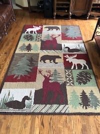 white, red, and black area rug Nappanee, 46550