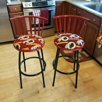 two black metal framed red padded bar stools Gaithersburg, 20879