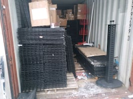 Retail Racking for sale. Full Container  along with liquidation items