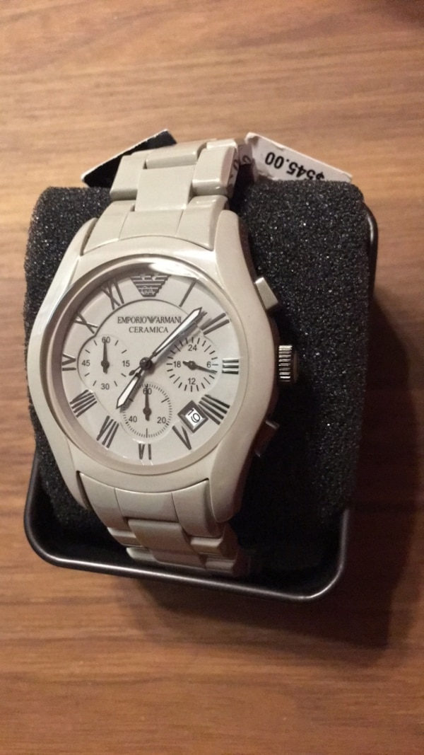 EMPORIO ARMANI AR1459 LATEST MEN'S GREY CERAMICA WATCH