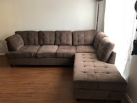 Large Brown Sectional Sofa Couch With Storage Ottoman Houston, 77008