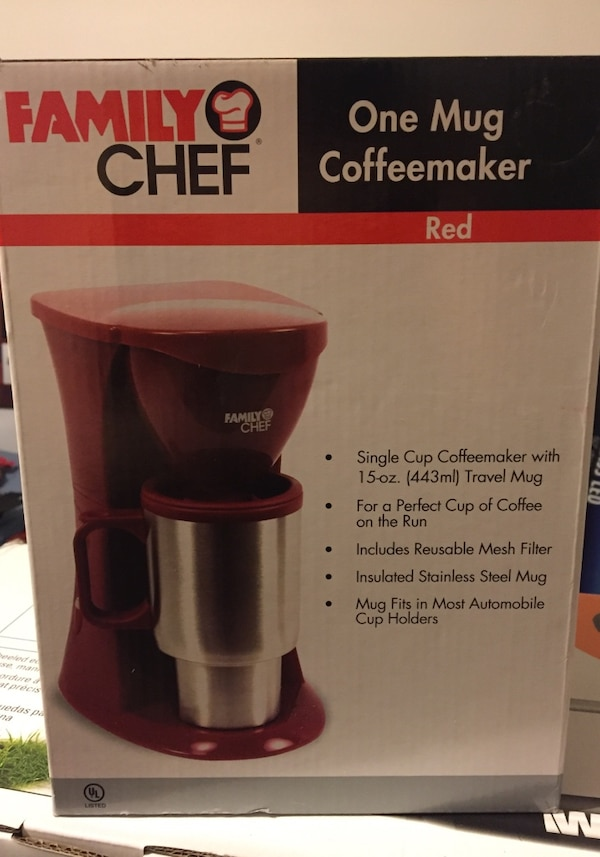Used Family Chef One Mug Coffee Maker Red For Sale In Mebane Letgo
