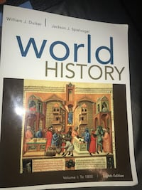 William J. Duiker World History volume 1: To 1800 Eight edition. College textbook. Great condition.  Cape Coral, 33993