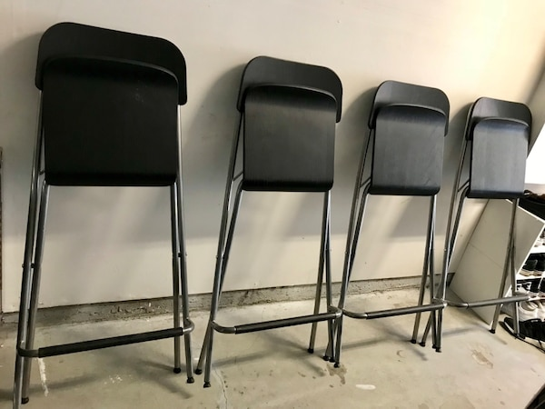 (4) IKEA - FRANKLIN folding bar/pub/kitchen stools