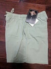 Misses M sage green shorts LELAND