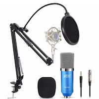 black and blue Tonor condenser microphone with filter Los Angeles, 90023