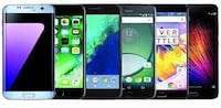 four black and white android smartphones Hyattsville, 20782