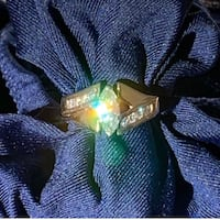 Unique Marquise Diamond Wedding Engagement Cocktail 14kt Yellow Gold Ring Coon Rapids, 50058