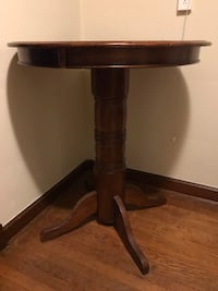brown wooden pedestal table with drawer Bethesda, 20814