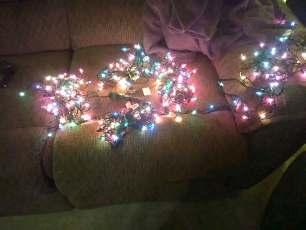 Christmas lights, multi-color, 5 sets of 12+ feet - Used Christmas Lights, Multi-color, 5 Sets Of 12+ Feet For Sale In