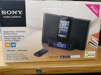 Sony speaker dock and clock radio for iPhone and iPad  Richmond Hill, L4E 3N2
