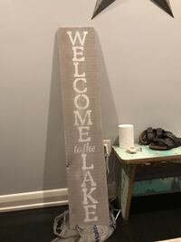 4ft Welcome to the Lake sign Mississauga, L5N 7T3