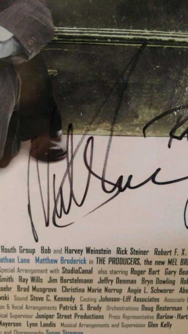 Signed complete cast,The  Producers, on Broadway 06a9bc49-23af-4d4c-a701-2fe0eef6803d