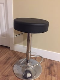 Round black leather swivel chair(second one free)