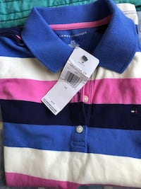 blue and black stripe polo shirt Randallstown, 21133