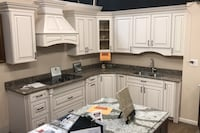 "Kitchen cabinets w/ quartz top /sink/cooktop  9'8"" x 8'0"" Baltimore, 21237"