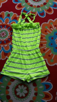toddler's green and pink stripe onesie Reading, 19609