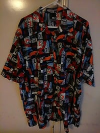 black red and white button up t shirt Pflugerville, 78660