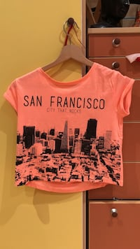 T-shirt orange, rose à manches courtes san francisco Hérimoncourt, 25310