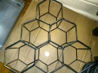 Metal Honeycomb wine rack