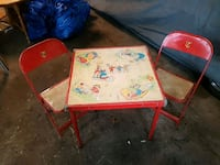Kids antique table and chair 539 km