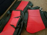 Black and red seat covers. COVERKING Burke, 22015