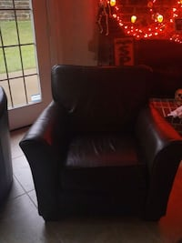 brown leather chair Little Elm, 75068