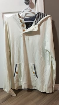 white and brown button-up long-sleeved shirt Medicine Hat, T1C 2A2