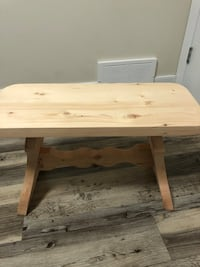 Glazed Wooden Bench