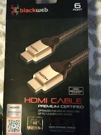 6ft blackweb hdmi in box never used Fresno, 93702