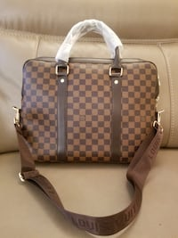brown and white Louis Vuitton leather tote bag Dorval, H9P
