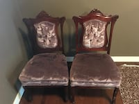 Two  wooden framed  padded chairs  Calgary, T3E 6X1