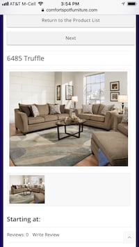 Truffle Sofa and Love  Mesquite