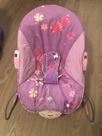 baby's pink and purple floral Fisher-Price bouncer seat Newport News, 23602