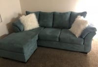 Gray fabric sectional sofa with throw pillows Sanford, 32773