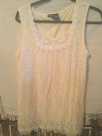 Style & Co women's cream lace sleeveless top blouse shirt Antioch, 94531