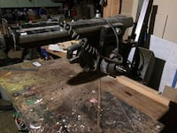 """craftsman 10"""" radial arm saw all so has extened shaft on right side of motor so you can add a sanding disk or drill chuck Niagara Falls, L2J 3K8"""
