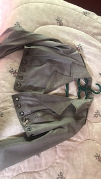 Crop Italian leather jacket by Curge Burnaby, V5G 4P4